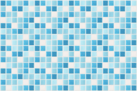small square tiles of blue color Stockfoto