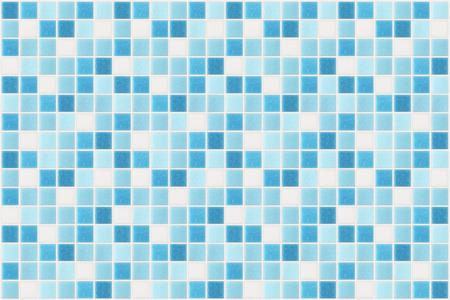 Piccole piastrelle quadrate di colore blu Archivio Fotografico - 43041009