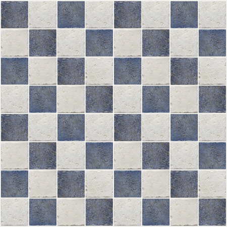 decorative wall: small square tiles of blue and gray color
