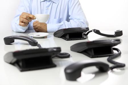 break in: coffee break in the office, phones off