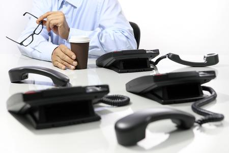 hot secretary: coffee break in the office, phones off