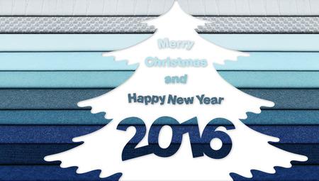 tonality: merry christmas and happy new year text on tree