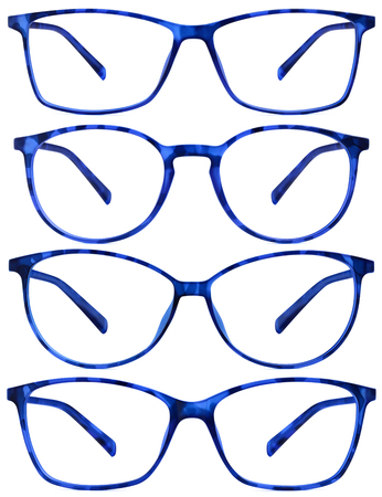 blue spotted: blue spotted glasses isolated on white background