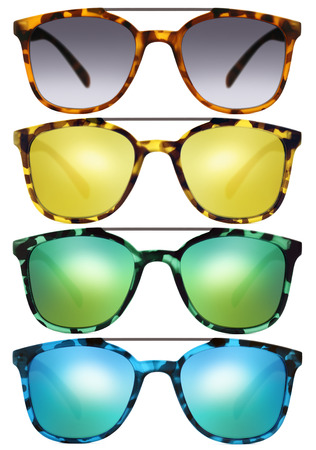 mirrored: sunglasses isolated on white background Stock Photo