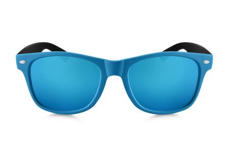 mirrored: aviator sunglasses isolated on white background
