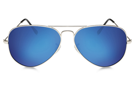 aviator: aviator sunglasses isolated on white background