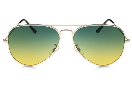 sunglasses: aviator sunglasses isolated on white background