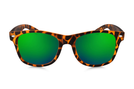 sunglasses isolated: aviator sunglasses isolated on white background