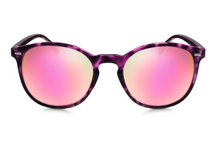 reflection mirror: sunglasses isolated on white background Stock Photo