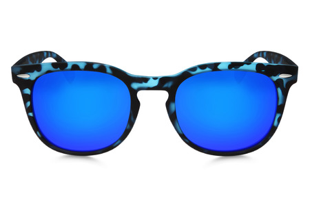 blue spotted: blue spotted sunglasses isolated on white background