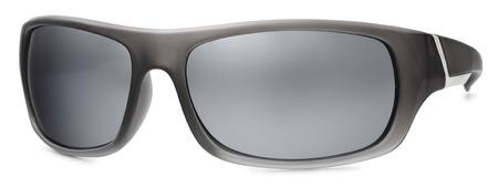 enveloping: black sport sunglasses isolated on white background