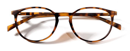 specs: leopard spectacles isolated on white background