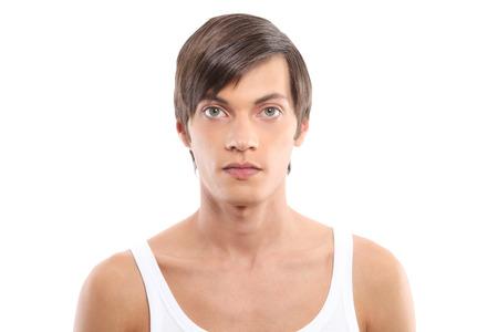 male portrait on white