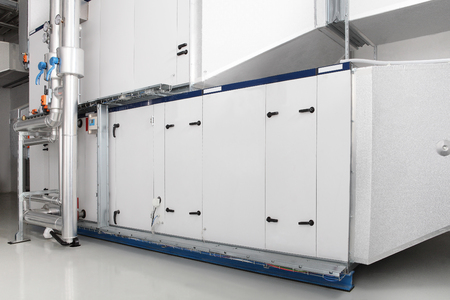 central heating and cooling air handling system control. 스톡 콘텐츠