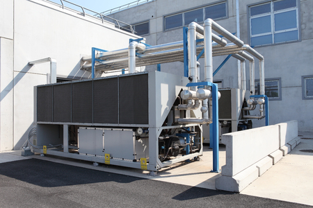 huge air conditioning unit, central heating and cooling system control.