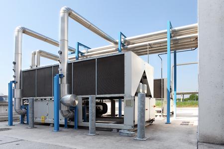 NOrme unité de climatisation, système de chauffage central et système de refroidissement Banque d'images - 92932493