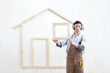 house construction renovation concept handyman carpenter worker