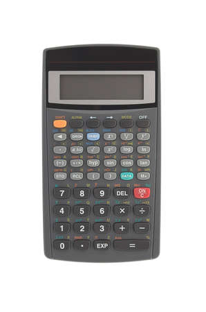 Scientific calculator isolated over white photo