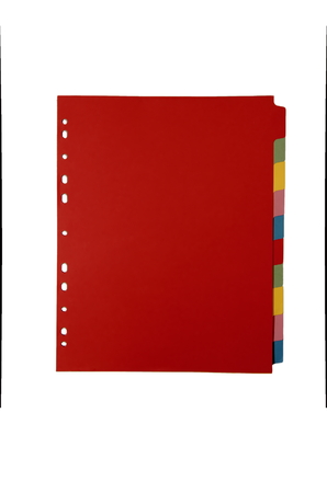 subject: Pile of the A4 color subject dividers