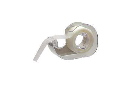 sellotape: Scotch Desktop Tape Dispenser Black with Scotch Magic Tape isolated over white