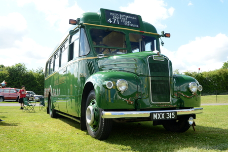 sidelight: BROMLEY PAGEANT of MOTORING. The biggest oneday classic car show in the world June 07 2015 in Bromley London UK. London transport bus