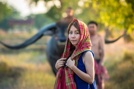 Peasant family at Country Thailand.