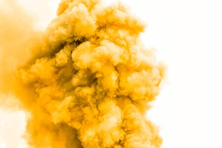 Yellow smoke like clouds background,Bomb smoke background,Smoke caused by explosions. Stock fotó - 134783395