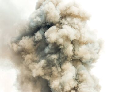 Gray smoke like a cloud background,Bomb smoke background,Smoke caused by explosions.