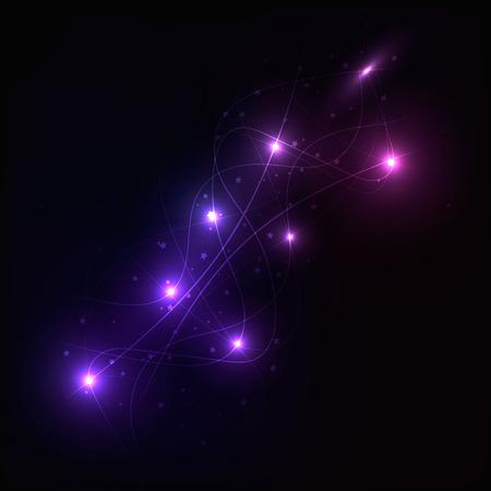 planetarium: Glowing vector image texture of the night sky