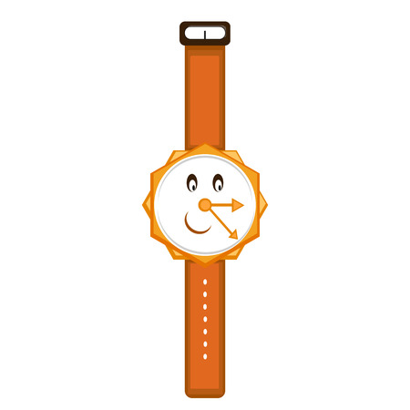 Cartoon wrist watch in retro style.