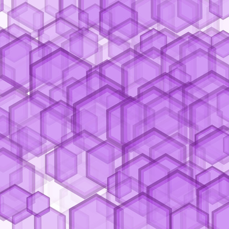 striated: Geometric pattern with hexagons is pictured with lilac tones in the honeycomb.