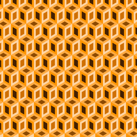 Geometric shape from orange cubes vector image