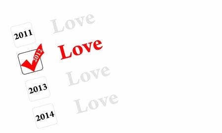 Love 2012 Stock Photo - 12295510