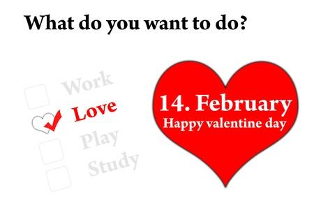 Happy valentine day 14 February Stock Photo - 12295304