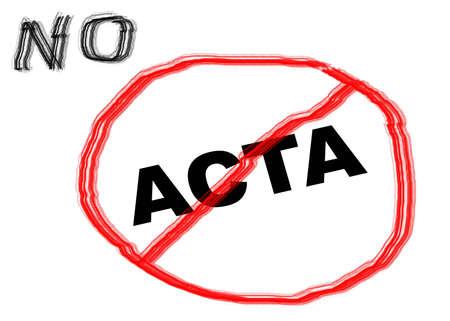 counterfeiting: acta Stock Photo