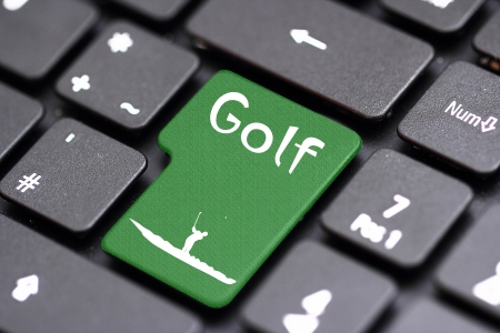 computer club: golf on a keyboard