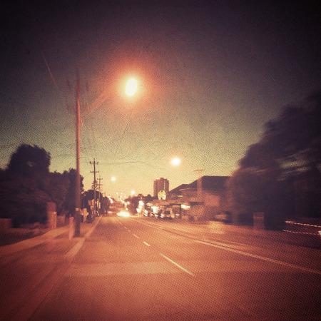 thoroughfare: City Street at Night