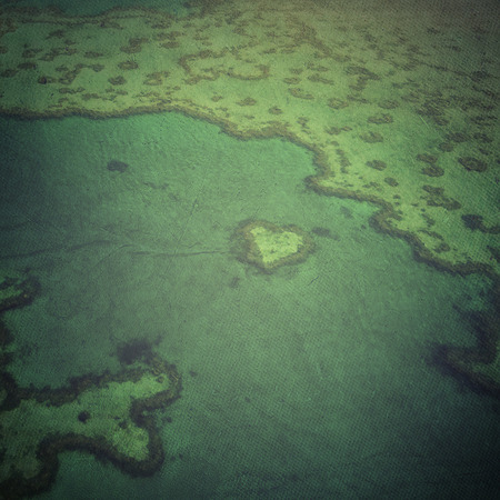 Heart Reef - The Great Barrier, Australia photo
