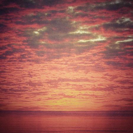 colo: Beautiful sunset or sunrise over the sea Stock Photo