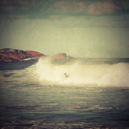 retro revival: Surfing Stock Photo