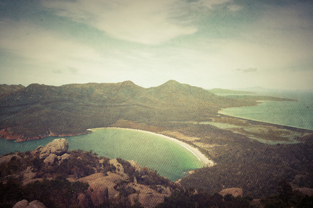 Wineglass Bay, Freycinet Peninsula, south eastern Tasmania, in Australia