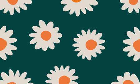 Background flower vector illustration. Sunflower. Pattern.