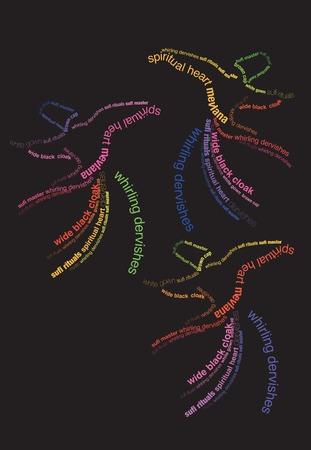 sufism: typographic dervishes Illustration