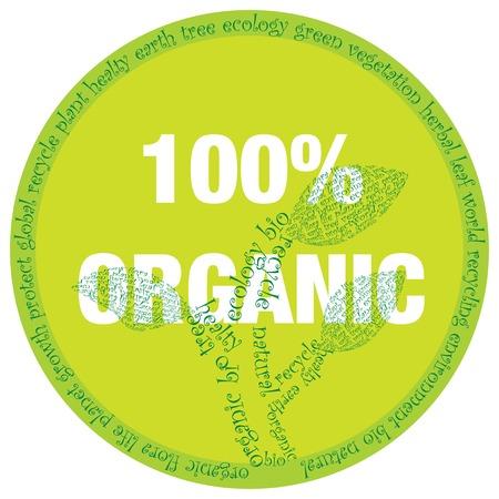 organic symbol Stock Vector - 7396173