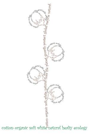 typographic cotton Vector