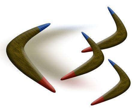 boomerangs: boomerangs Stock Photo