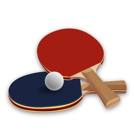 table tennis: ping pong paddles Stock Photo