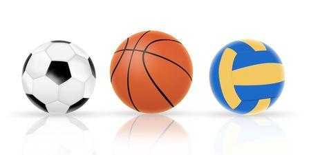 three ball Stock Photo - 7455741