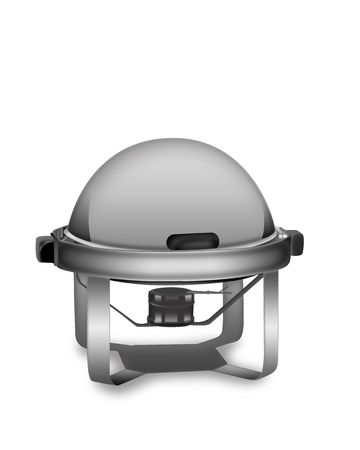 chafing dish: Silver Chafing Dish