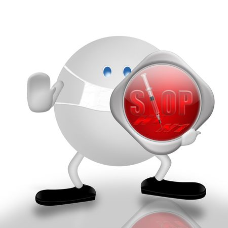 quarantine: Stop!-H1N1 Stock Photo